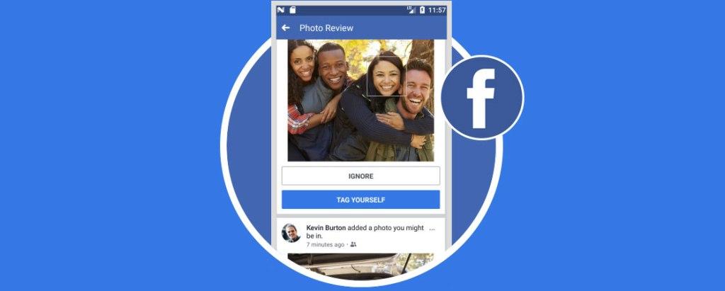 Etiqueta sugerida por Facebook a los usuarios a traves del reconocimiento facial.  Foto fuente externa.